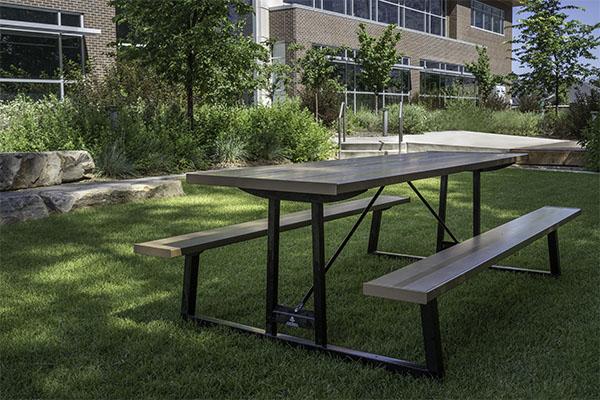 Aluminum Metal Picnic Tables For Pavilions